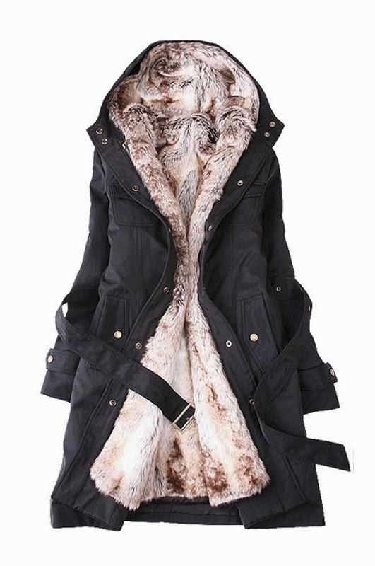 Woman's Detachable Faux Fur Lining Winter Jacket