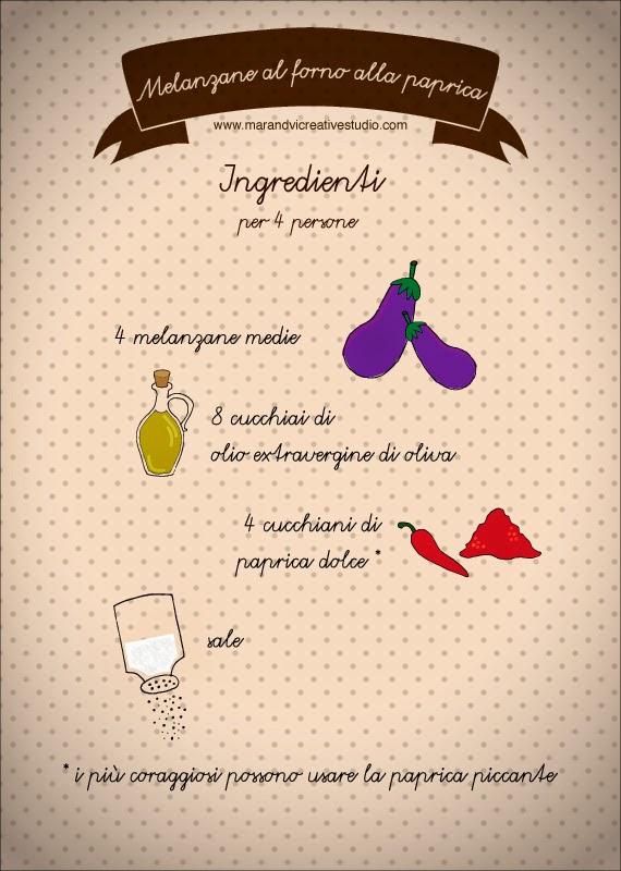 Ricetta melanzane al forno alla paprica