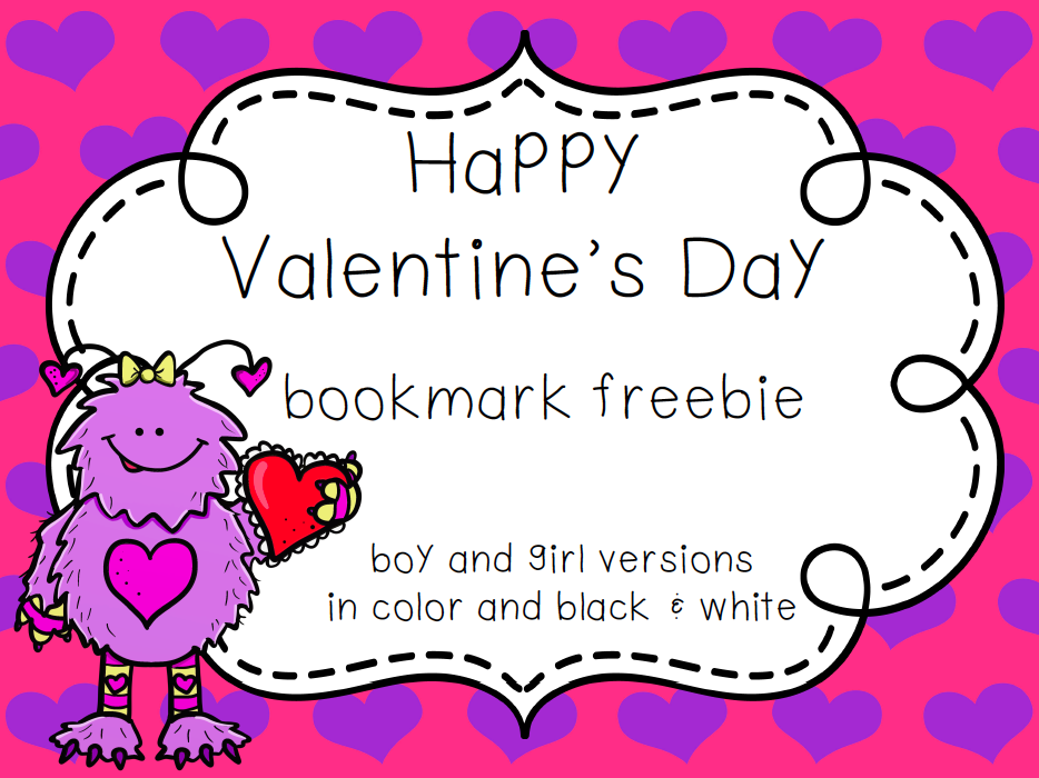 https://www.teacherspayteachers.com/Product/Valentines-Day-Bookmark-Freebie-1705083