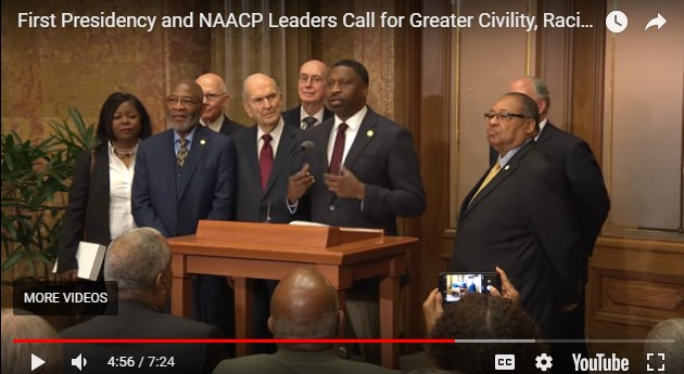 OFFICIAL LDS and NAACP STATEMENT ON RACIAL HARMONY