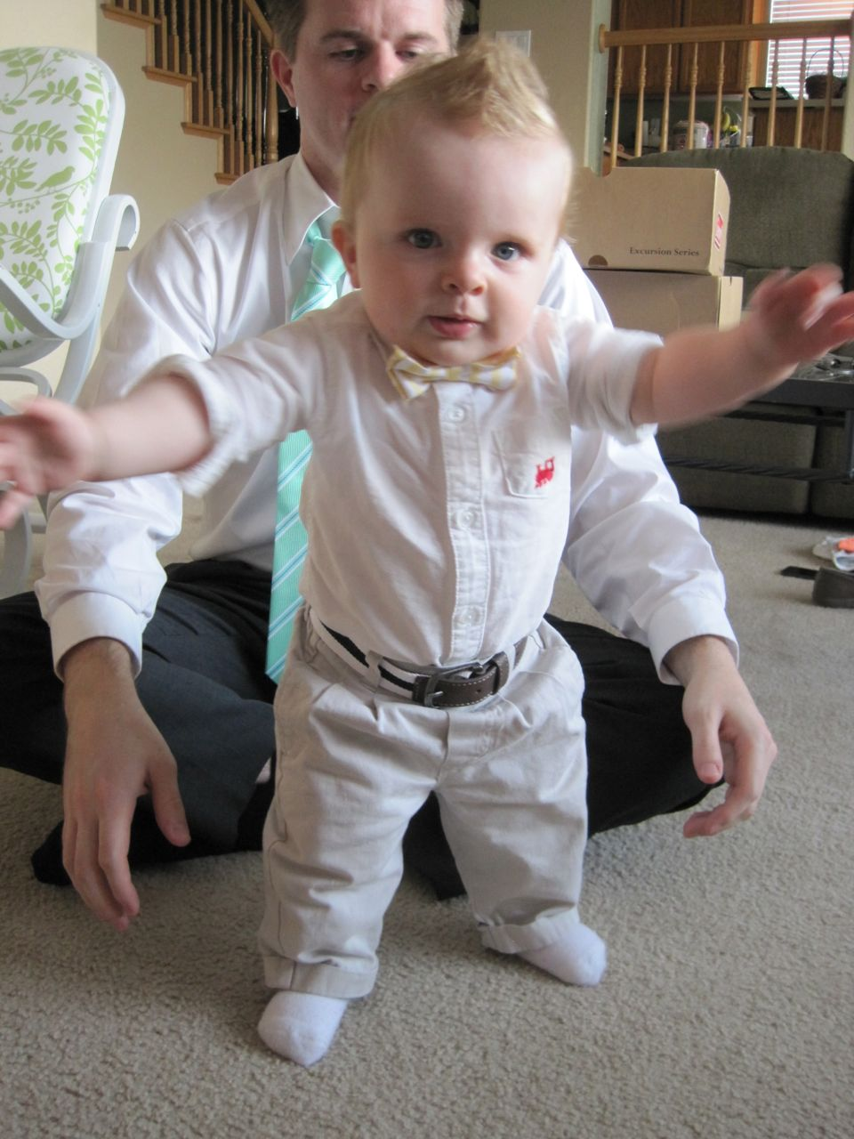 My baby is trying to walk! / The Wallace House