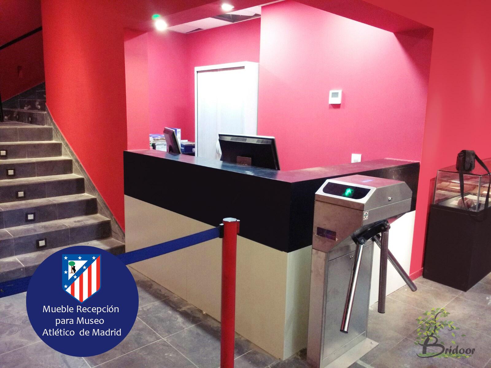 Bridoor s l mueble recepcion museo atletico de madrid - Muebles para restaurar madrid ...