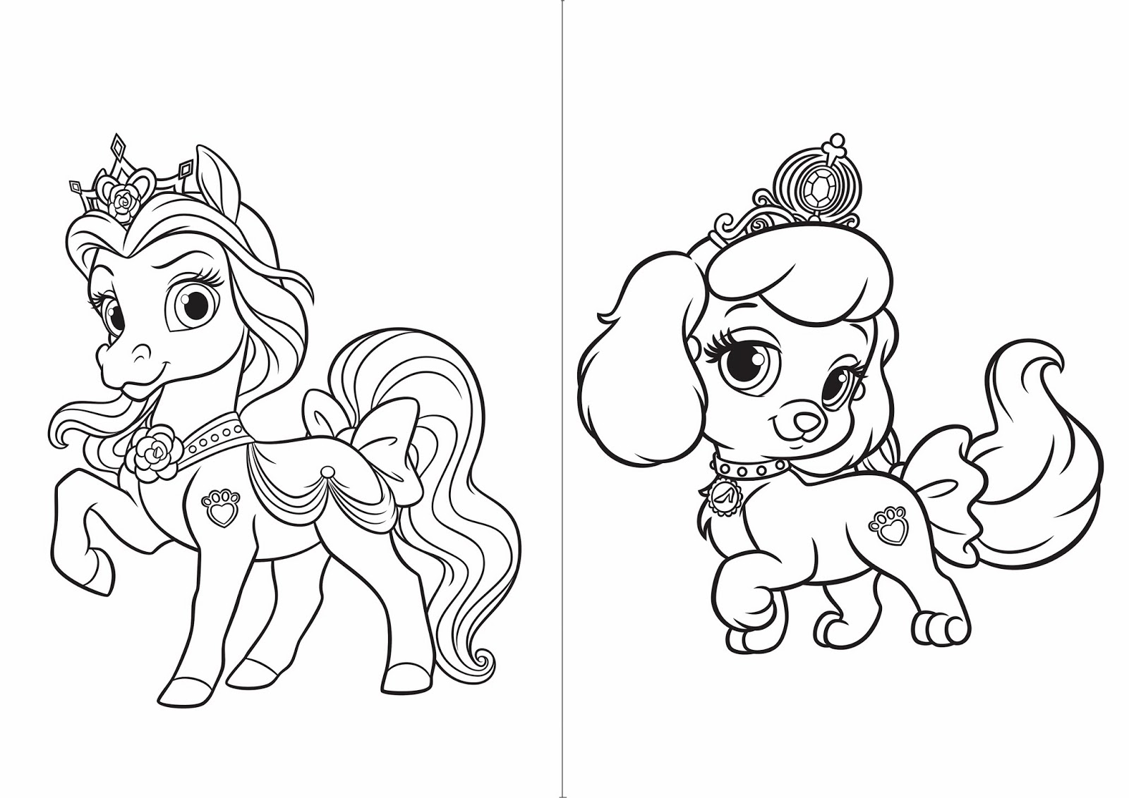 Palace Pet: Free Printable Coloring Book. | Oh My Activities for Kids!