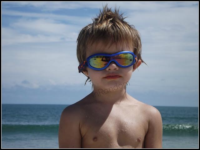Blue Shades on the Beach