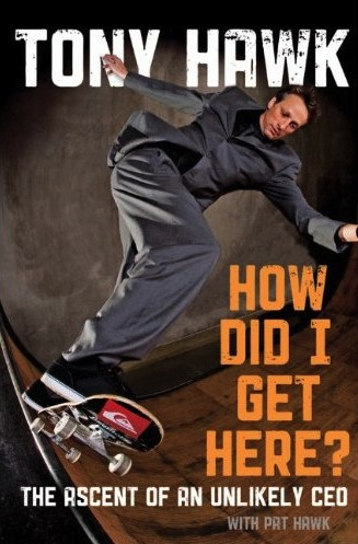 tony hawk, skateboard, book
