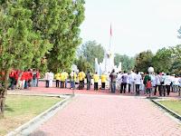 Peni Suparto Pimpin Upacara dan Tabur Bunga Timses Prabowo-Hatta di Makam Pahlawan Kota Malang