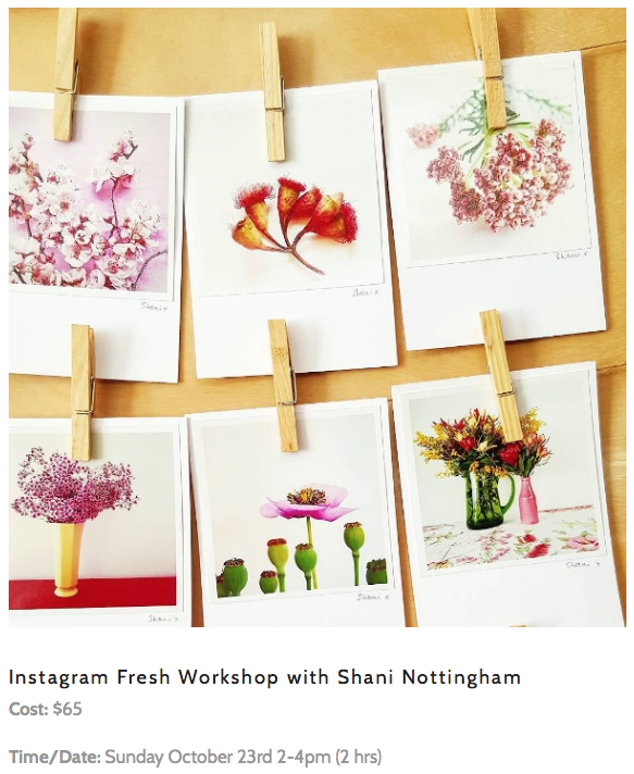 Link here to get info and tickets to my Instagram Fresh workshops @cornerstoregallery in Orange!
