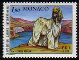 1978年モナコ公国 アフガン・ハウンドの切手