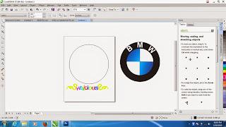 Membuat Lingkaran Menggunakan Ellips Tool Pada CorelDraw