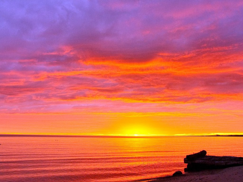 Colorful Sky Effect Sunrise Beach Wallpaper  Beach Wallpaper