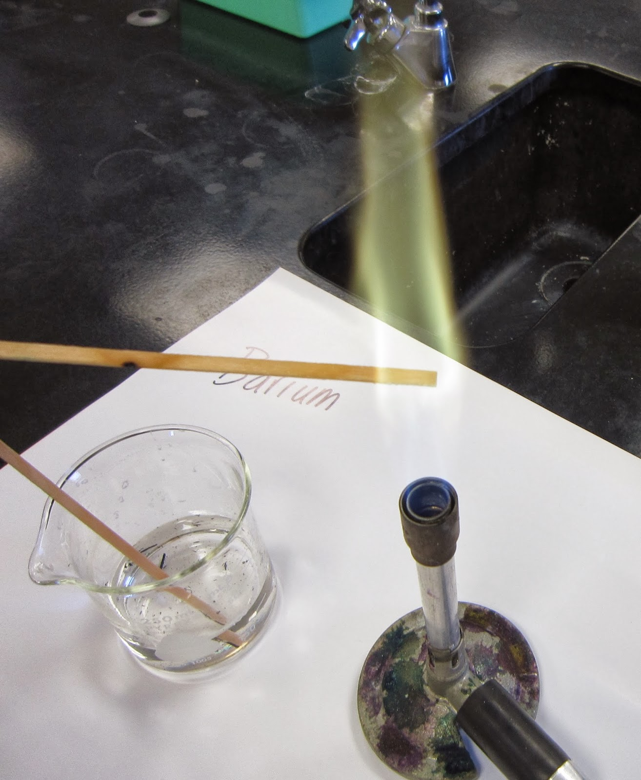 flame test experiment Lab: flame tests to do a flame test with each metal salt get a film of the solution of a salt inside the loop and bring it into the hottest part of the flame.