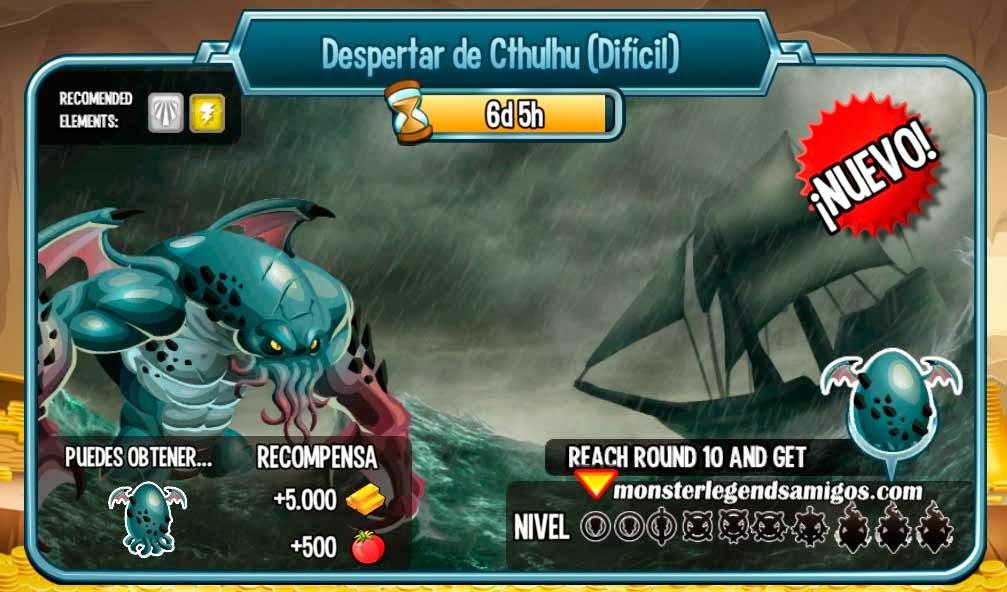 imagen de las batallas de la mazmorra despertar de cthulhu de monster legends
