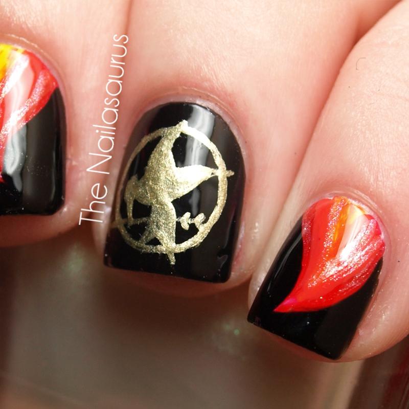 Nails on Fire: The Hunger Games Nail Art - The Nailasaurus | UK Nail ...