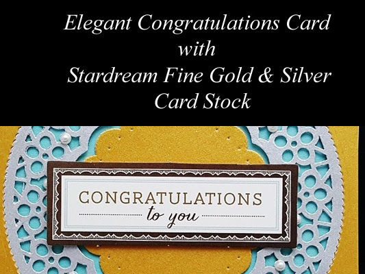 Congratulations with Metallic Gold and Silver
