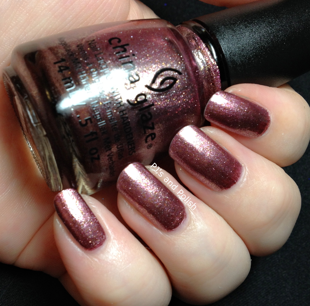 Swatch and Review China Glaze Strike Up a Cosmo Foil Seche Vite