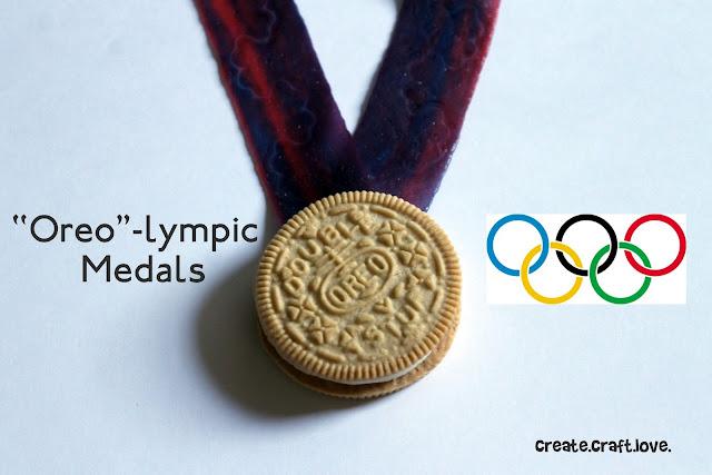 Oreo-lympic Medals via createcraftlove.com #oreos #kidscrafts #olympics