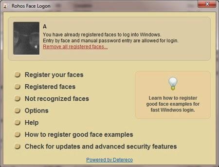 Sử dụng khuôn mặt để đăng nhập Windows bằng Rohos Face Login