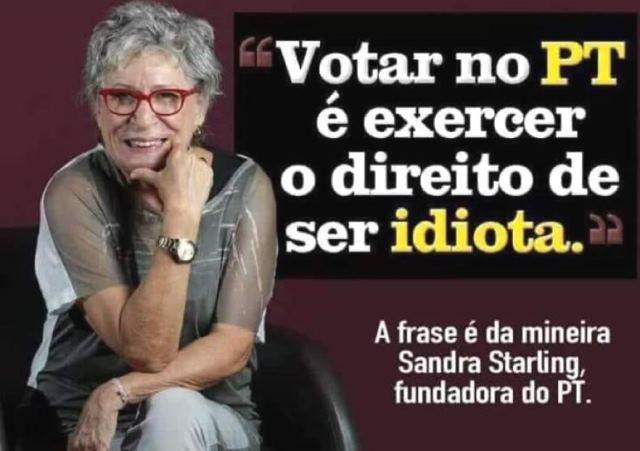 ELEITOR,  não vote nos candidatos do PT, PC do B e PSOL