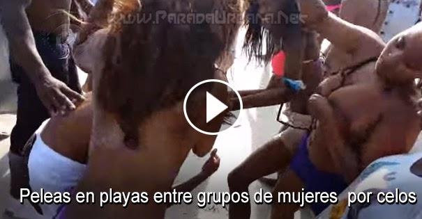 PELEAS CALLEJERAS: Peleas en playas entre grupos de mujeres por celos