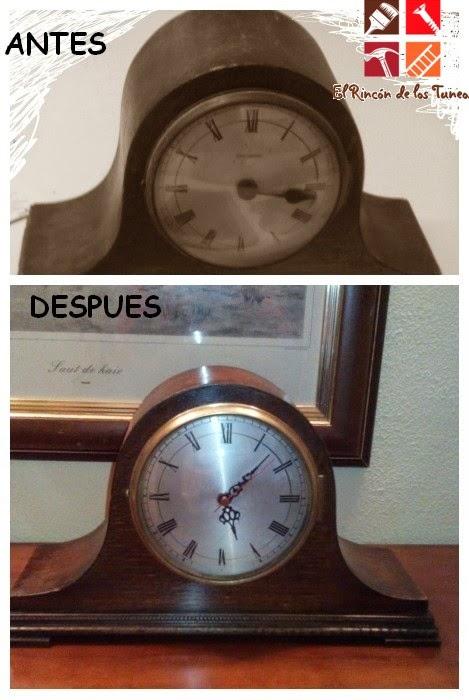 viejo reloj restaurado