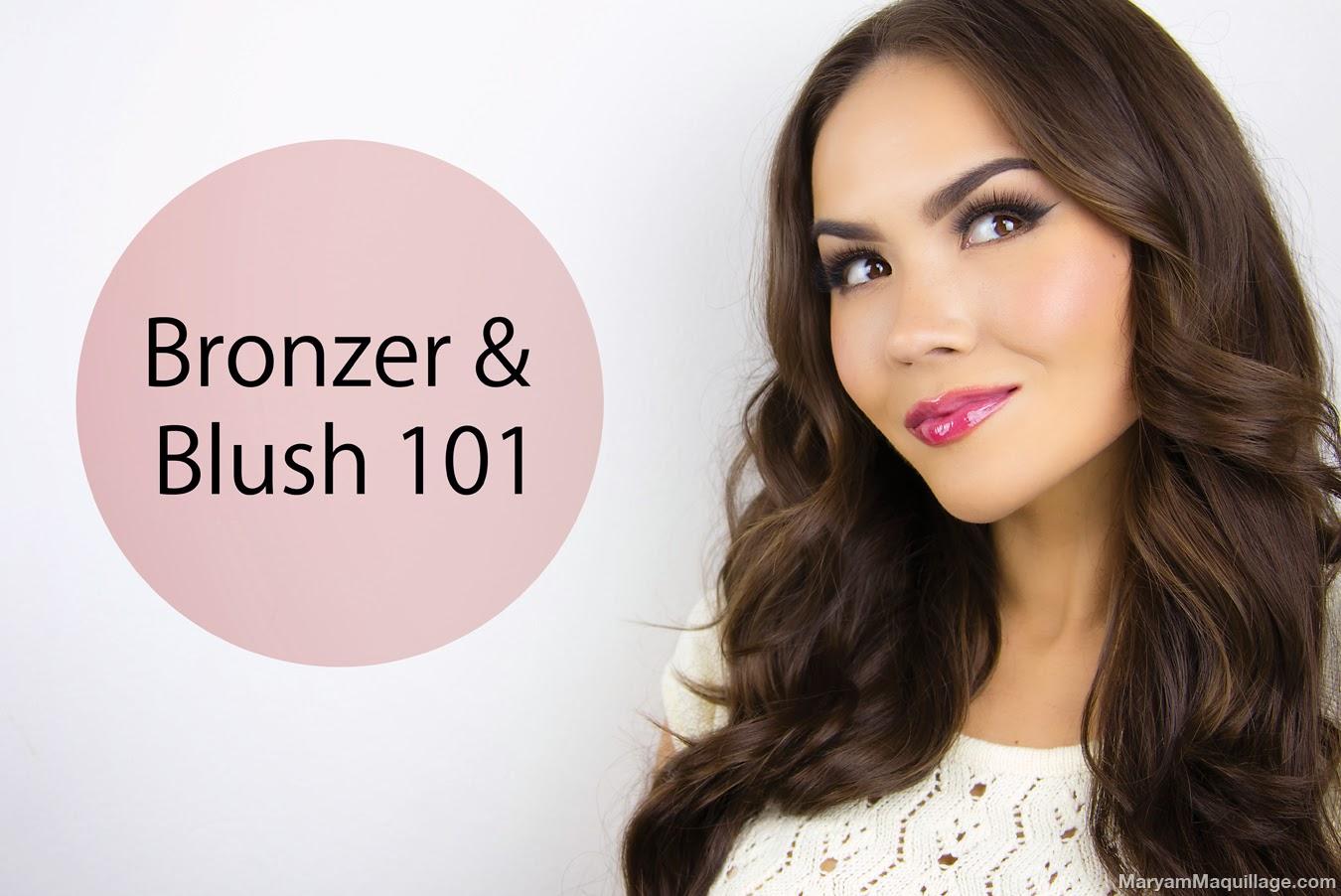 Maryam maquillage bronzer blush 101 video tutorial baditri Choice Image