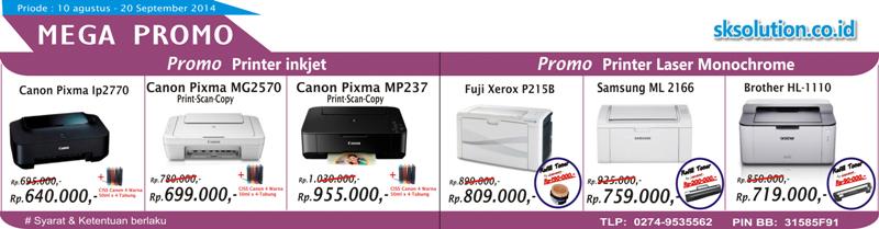 Promo Printer Inkjet & Laser murah yogyakarta