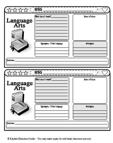Crystal\'s Reading Education 530 Final Project: Vocabulary