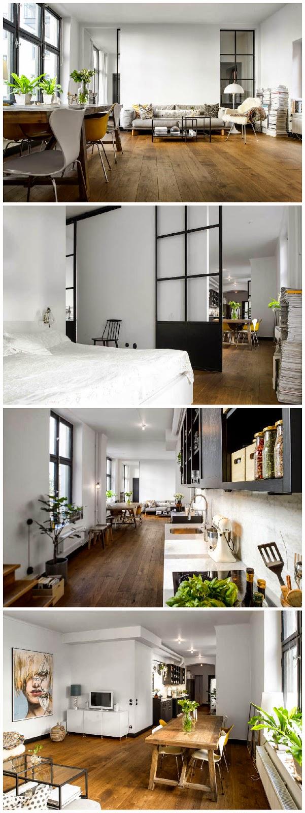 estilo industrial, diseño, contemporáneo, moderno, suelo madera, dekoloop
