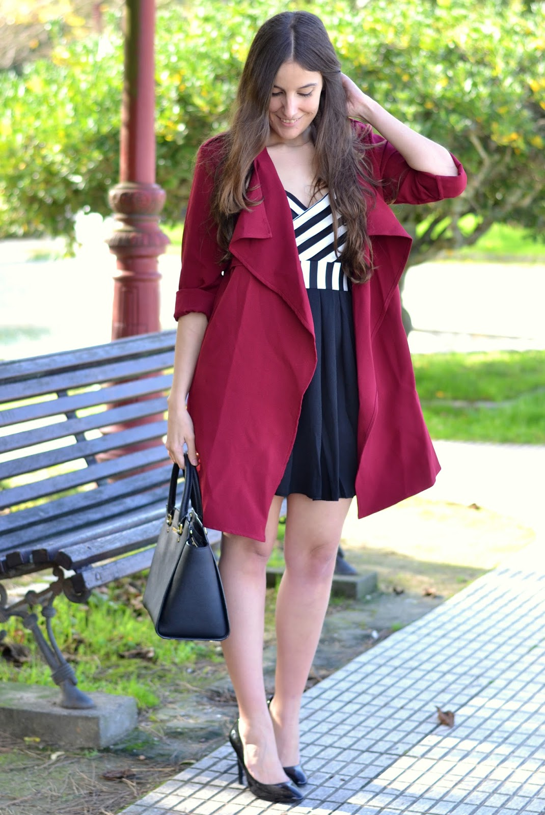 outfits black and burgundy