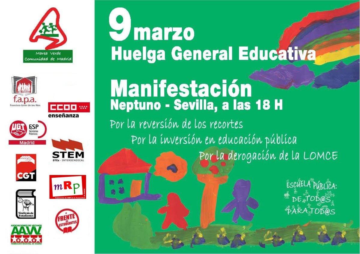 9 de marzo Huelga General Enseñanza