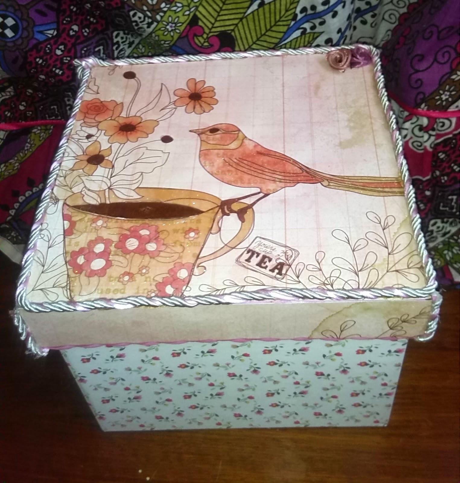 Mi rinc n de manualidades - Manualidades pintar caja metal ...