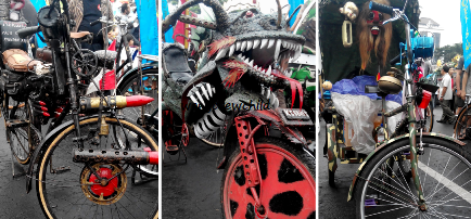kumpulan sepeda ontel antik di surabaya