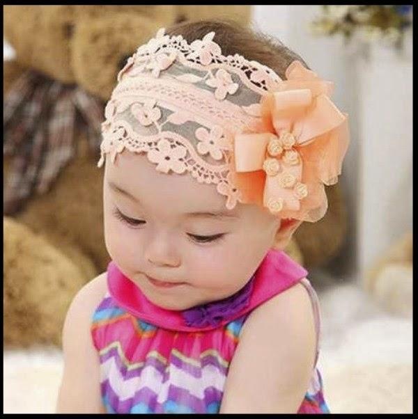 Model bandana lucu untuk bayi perempuan