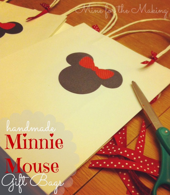 Minnie Mouse Gift Bags