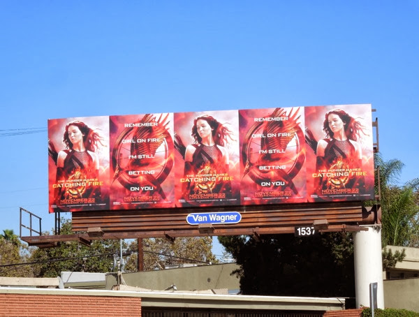 Hunger Games Catching Fire billboard
