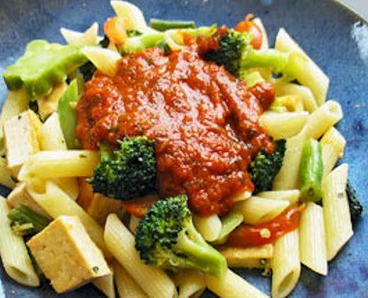 Tofu, Pasta & Veggies Image