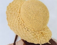 chapéu de verão feito de crochê