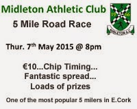 Popular 5 mile race in Midleton...Thurs 7th May