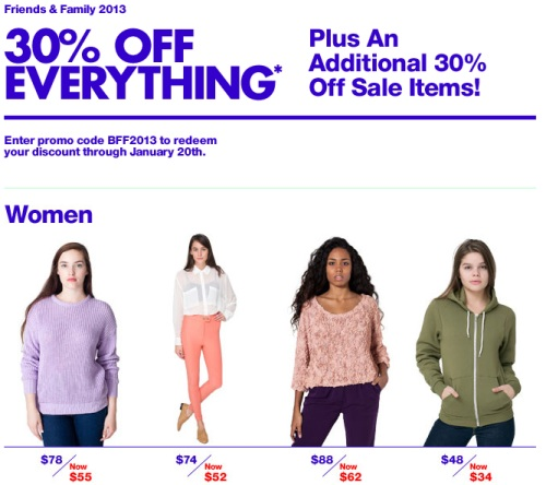 American apparel coupon code