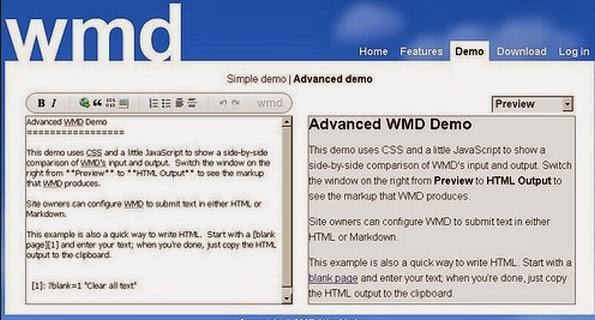 WMD markdown editor