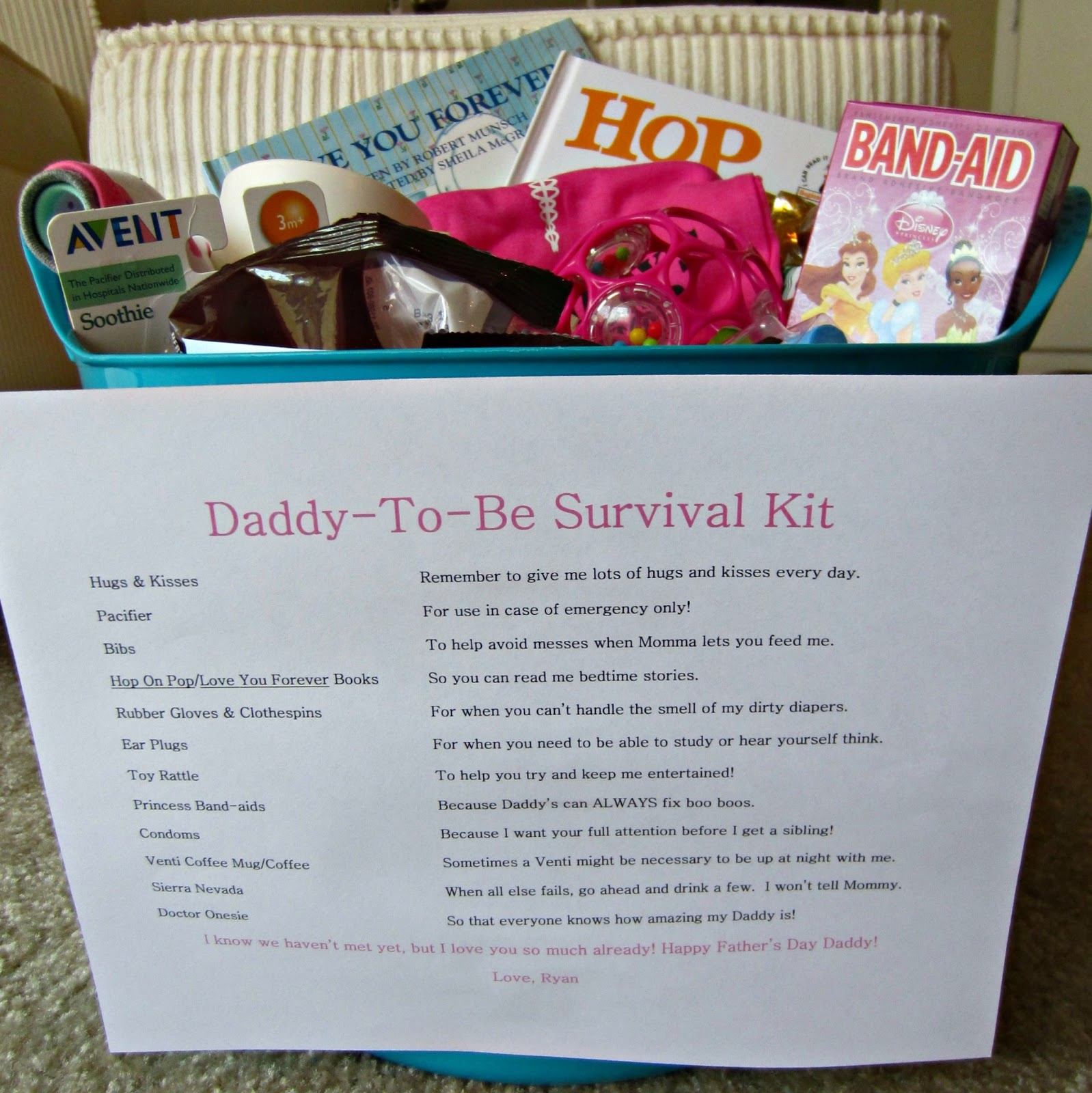 The Scurlock Scene Daddy To Be Survival Kit