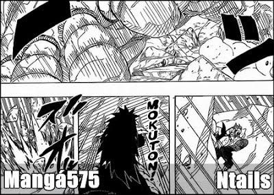 Naruto Mangá 575 -  A determinação de pedra