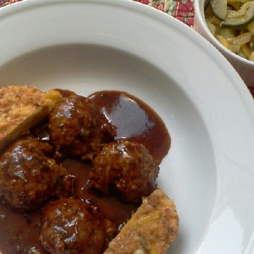 Lamb merguez meatballs made delicious with homemade harissa