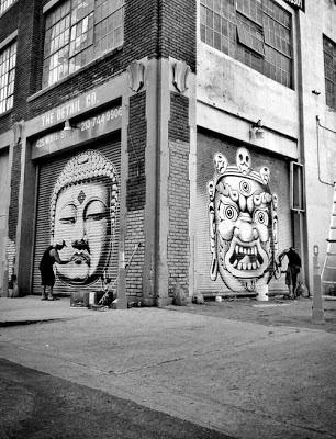 Buddhist Street Art Los Angeles, tagging, graffiti, cryptik