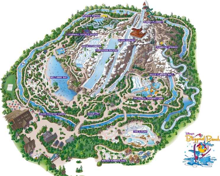 Water Parks Maps Top 7 Seven Us