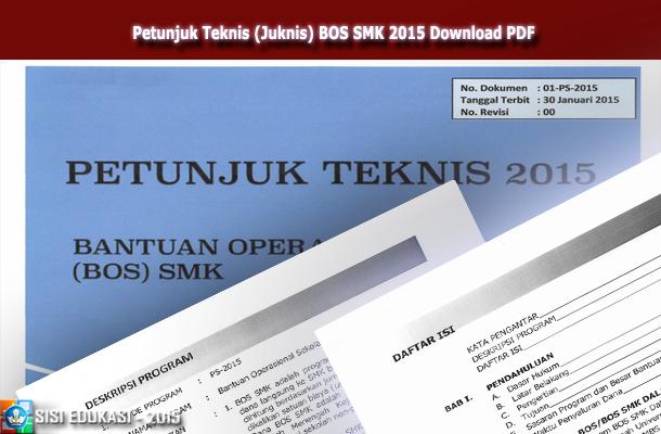 Petunjuk Teknis (Juknis) BOS SMK 2015 Download PDF