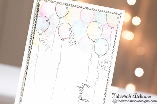 Birthday Balloons by Taheerah Atchia | Stamps by Newton's Nook Designs