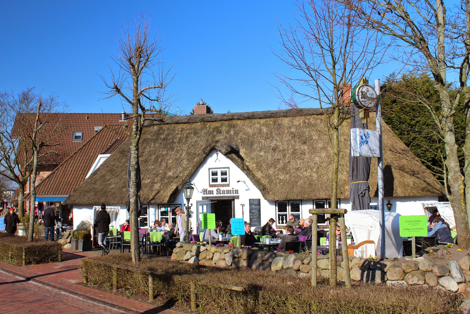 St. Peter-Ording Frühlingsausflug: Restaurant Am Kamin