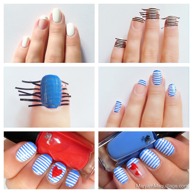 Maryam Maquillage: Sailor Stripes Nail Art & Easy Tutorial