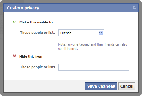 Facebook photos & posts privacy settings